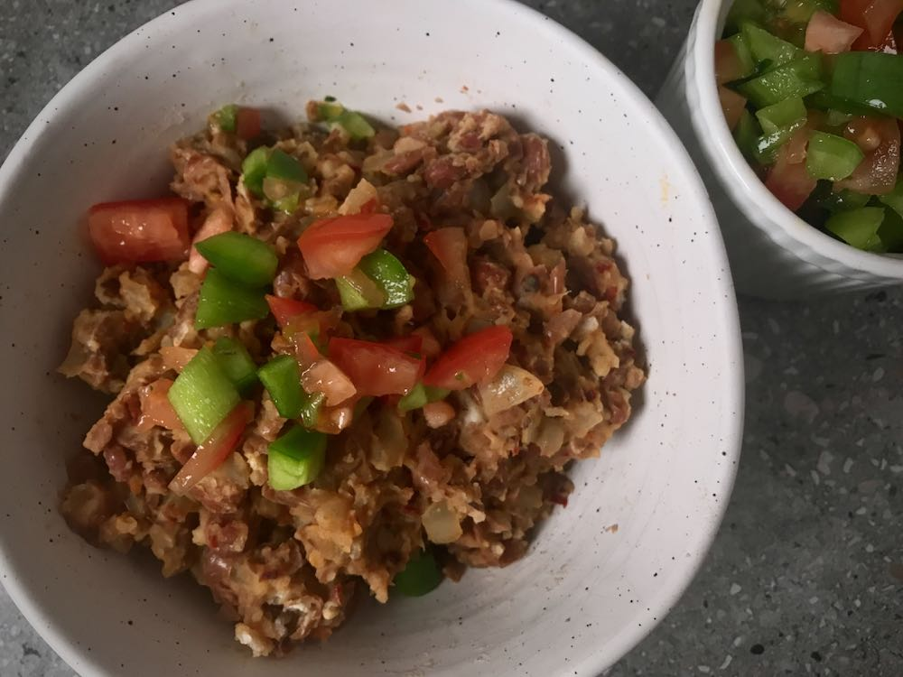 The Best Refried Beans with Fresh Salsa